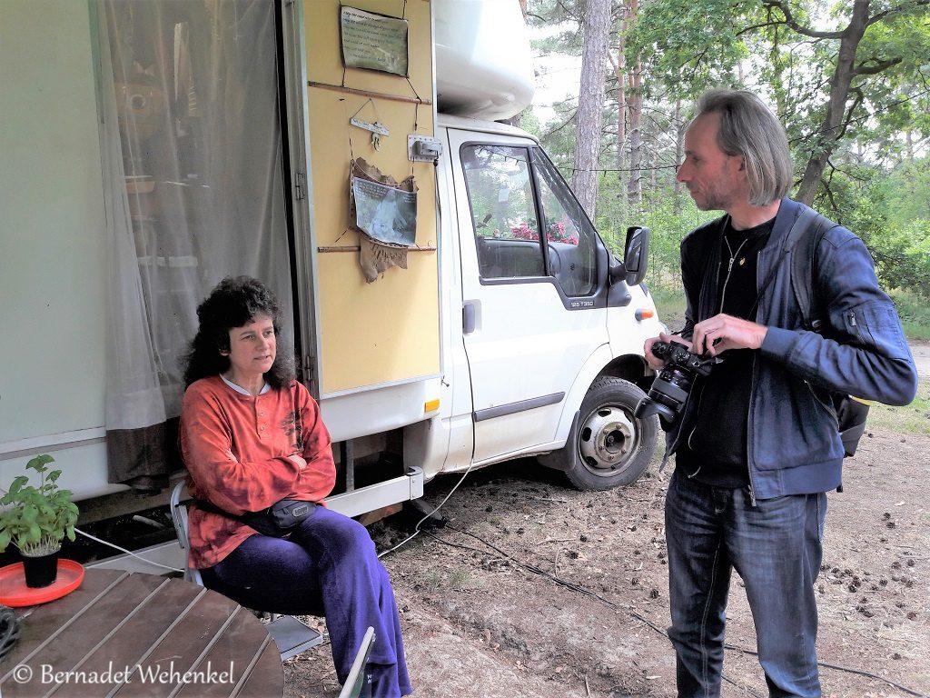 Marieke in gesprek met Hans.