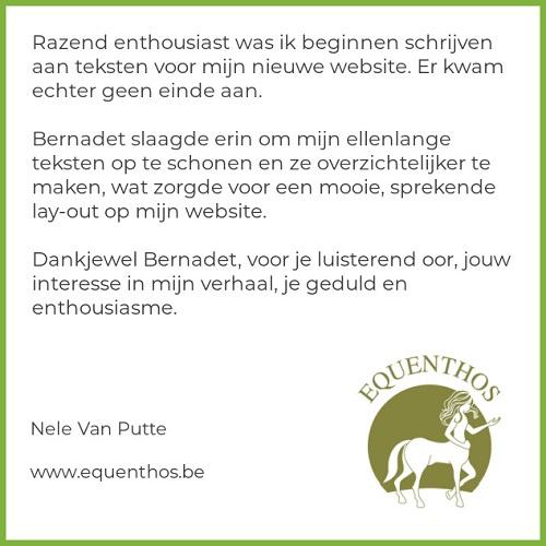 Review van Nele Van Putte van Equenthos