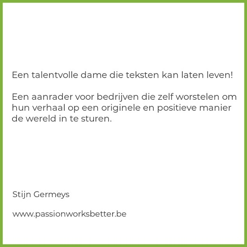 Review van Stijn Germeys van Passion Works Better